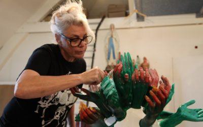 Kunstenaar Jackie Sleper verbonden met The Green Contractors tijdens Masters of LXRY.